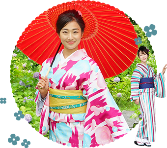 There are over 1,000 kinds of kimono in store!